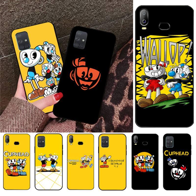 HPCHCJHM Cuphead TPU Soft Silicone Phone Case Cover For Samsung A10 A20 A30 A40 A50 A70 A80 A71 A91 A51 A6 A8 2018