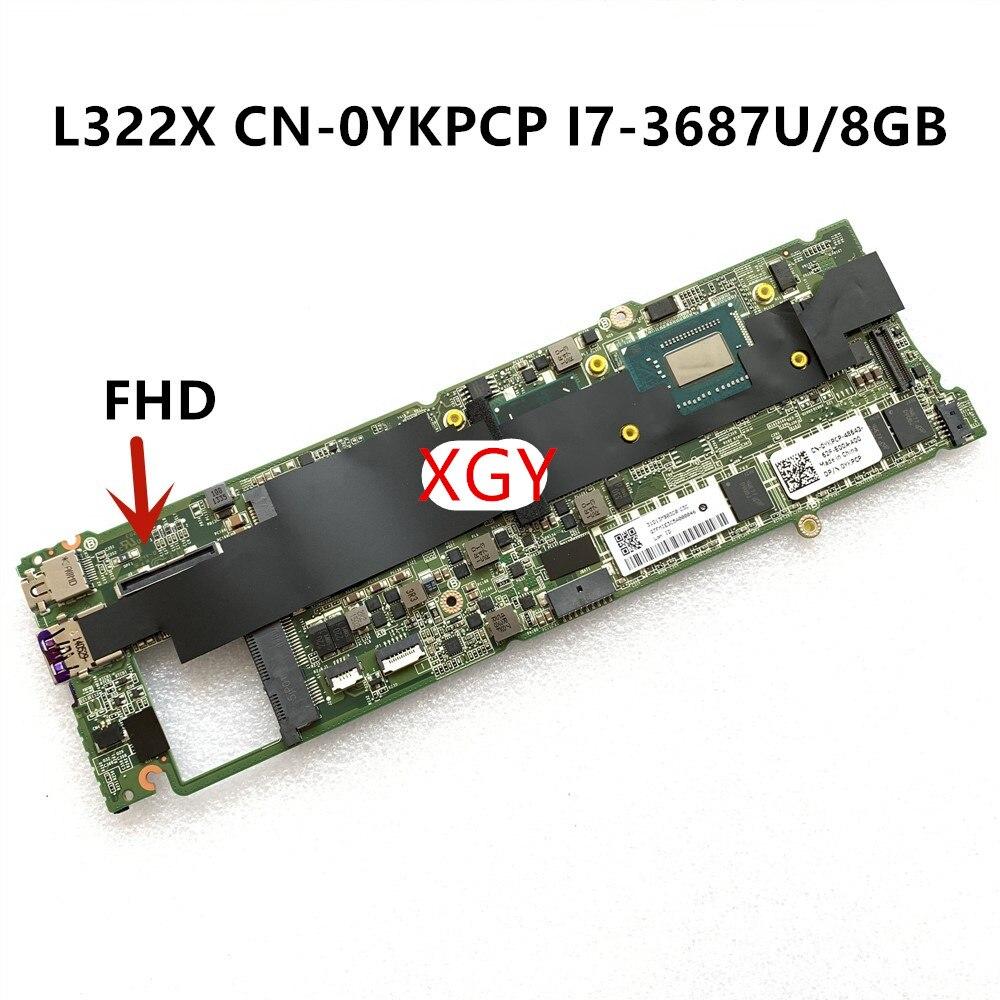 ل Dell XPS 13 L322X اللوحة YKPCP 0YKPCP D13B I7-3687U 8G الذاكرة 100% اختبار ok
