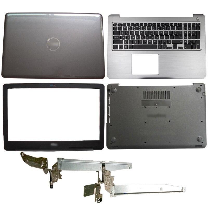 Nueva funda trasera LCD para portátil/bisel frontal/bisagras/reposabrazos/funda inferior para DELL Inspiron 15 5565 5567 024TTM 0NP37J 0PT1NY 0T7J6N