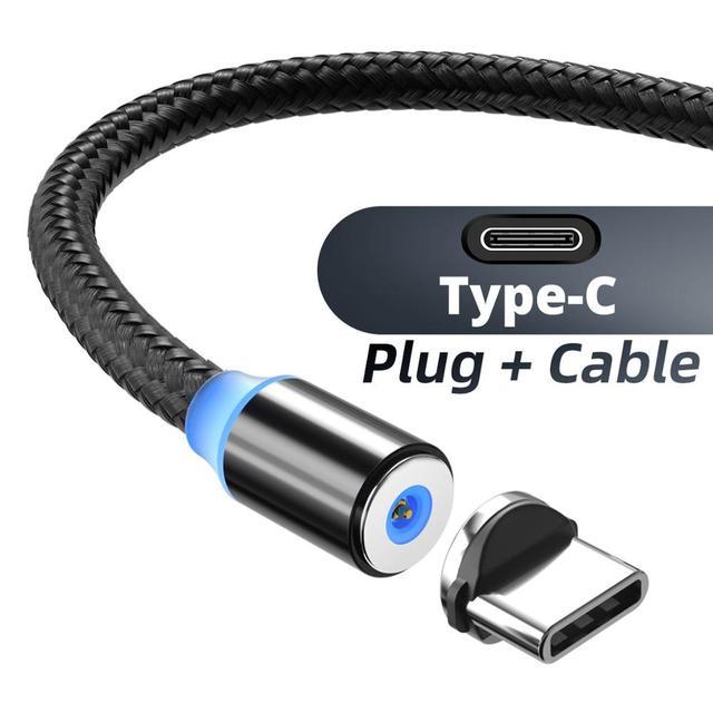 Магнитный Micro USB кабель ANMONE Магнитный штекер типа C зарядка 3 в 1 шнур для iPhone Huawei Samsung XiaoMi Магнитный зарядный провод | Мобильные телефоны и аксессуары | АлиЭкспресс