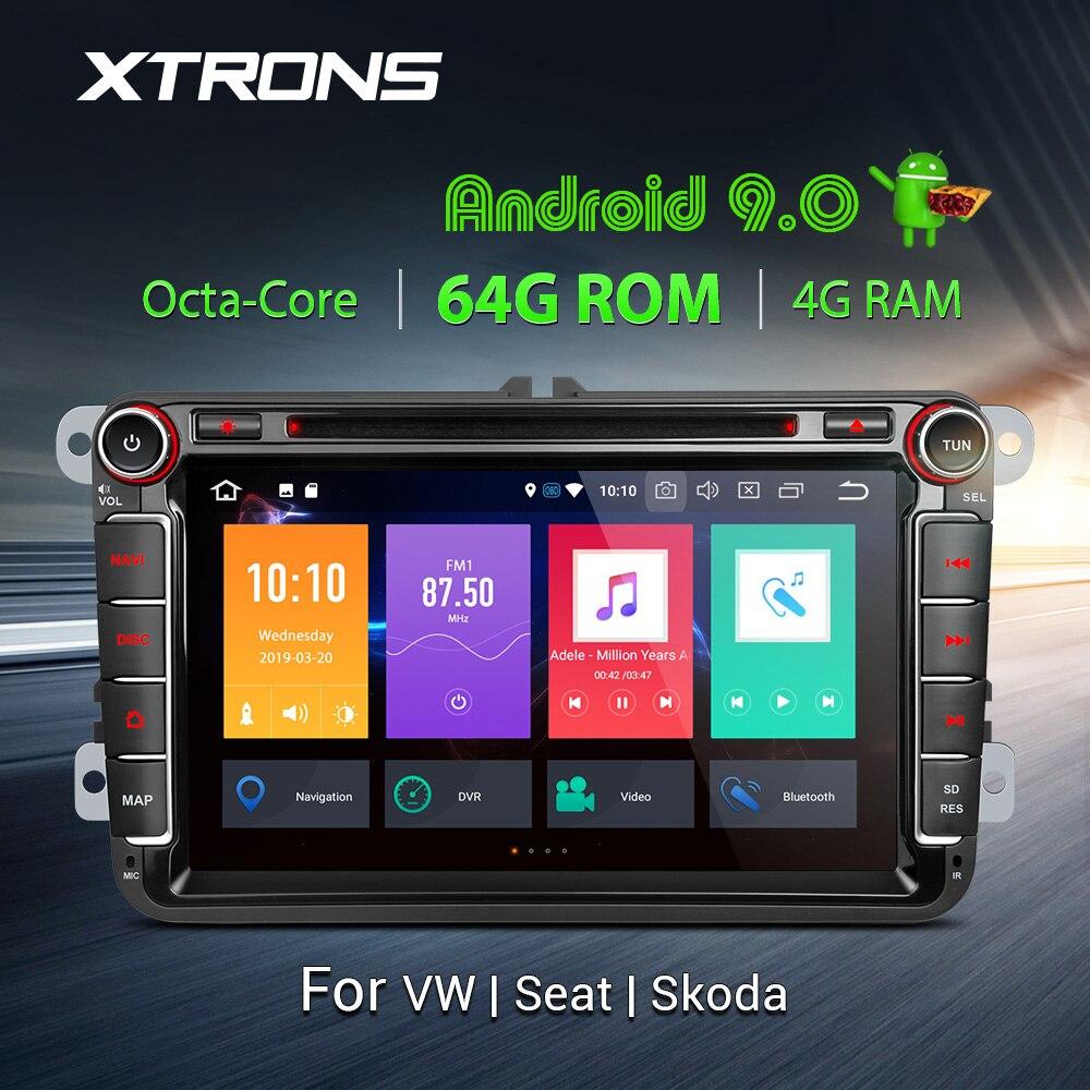 "XTRONS 8 ""Android 9,0 PX5 coche reproductor de DVD Radio GPS para VW Passat Volkswagen Golf Touran Tiguan Sharan Magotan para Skoda para asiento"
