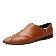 Men Shoes Genuine Leather Comfortable Moccasins Men Casual Shoes Footwear Chaussures Flats  Men Casu