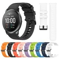 sport silicone wrist strap for xiaomi haylou solar ls05 smart watch band correa replaceable accessories watchband bracelet belt