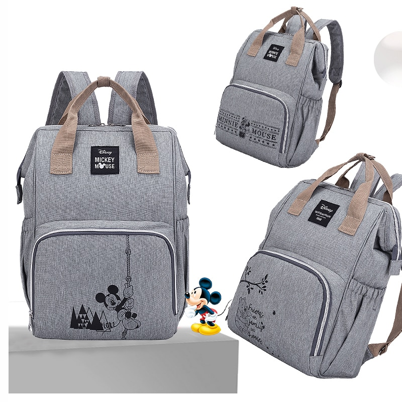 Многофункциональный рюкзак для мам, сумка для подгузников с диснеевскими Минни и Микки, для мам, на детскую коляску