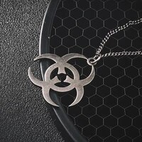 biochemical necklaces mens hip hop pendants simple retro necklace jewelry on the neck stainless steel fashionchains necklaces