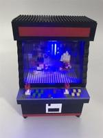 ZRK 1060pc Mirco Blocks Game Street Brick with Shining LED Arcade Fighter Game Black Machine Blocks Educational Toy