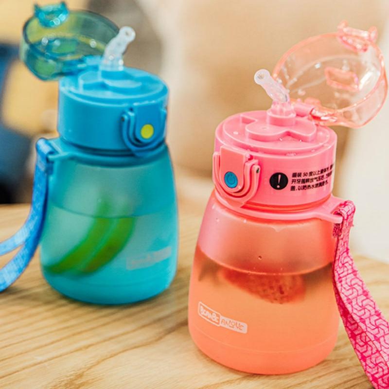 Botellas De Agua bonitas De paja simples para niños, moda personalizada, creatividad,...