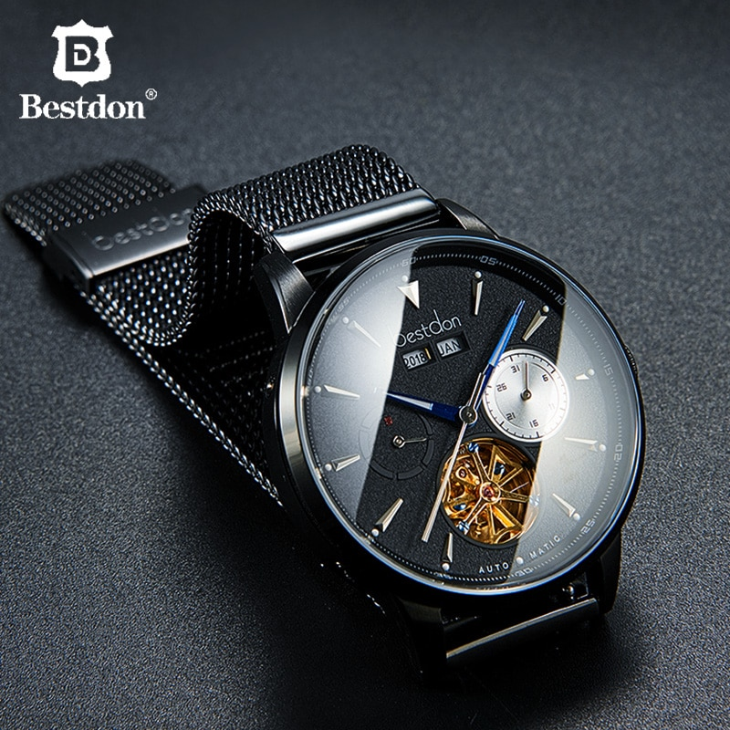 Bestdon Luxury Men's Watch Automatic Mechanical Brand Waterproof Sport Skeleton Man Watches Switzerland Relogio Masculino 2019
