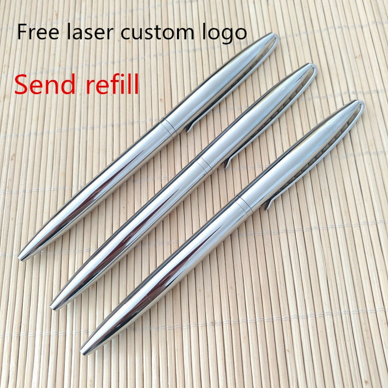 Creative practical small gifts free custom LOGO advertising business ballpoint pen silver rotating metal signature pen custom logo ballpoint pen multifunction metal touch pen gift for kids custom pen advertising pens christmas advertising pen