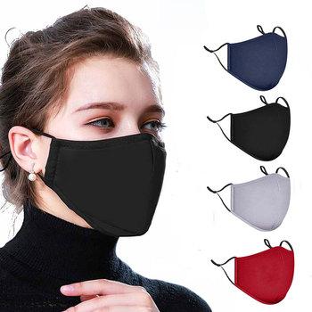 Многоразовая хлопковая маска для лица (17,5x9,5 см/4 цвета) со сменным вкладышем PM 2.5 (12x8 см) и регулируемыми ремешками