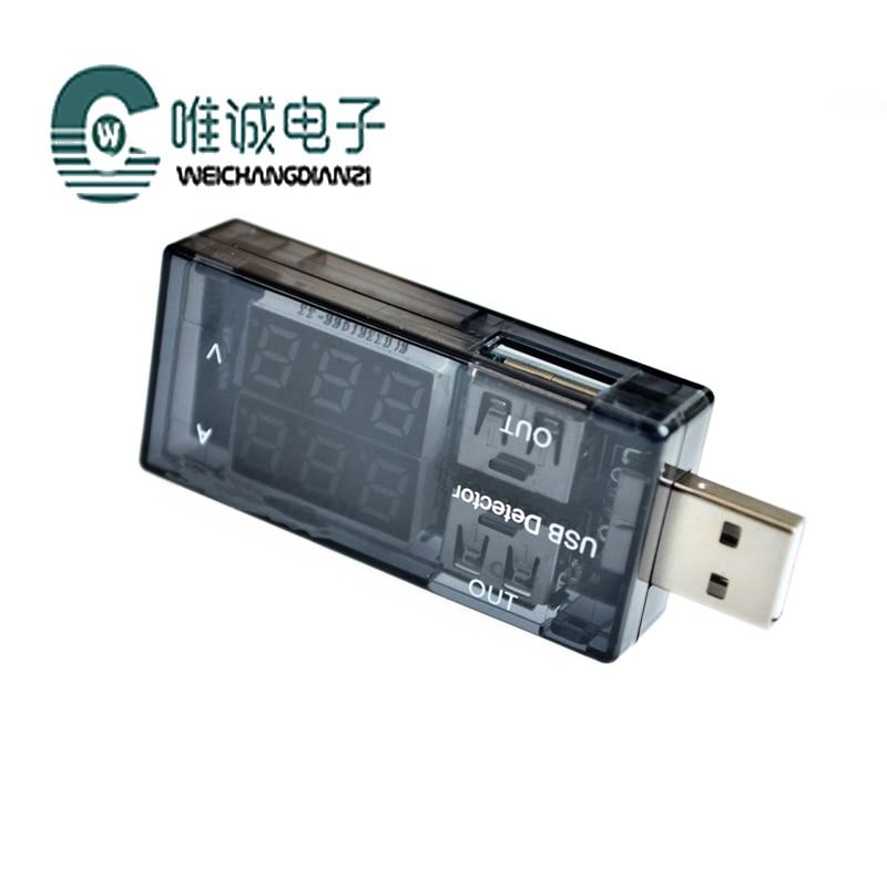 Podwójny na USB prądu i napięcia miernik testowy tester jeden punkt dwa adapter zasilania test wydajności