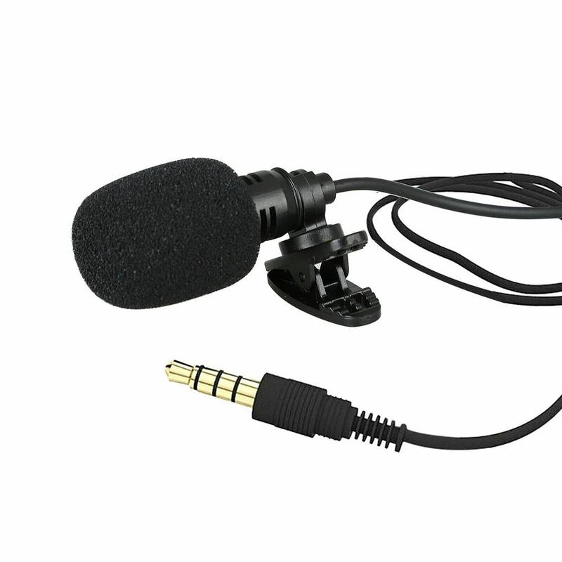 Micrófono con cuello de enganche de 3,5mm para teléfono móvil, soporte de...