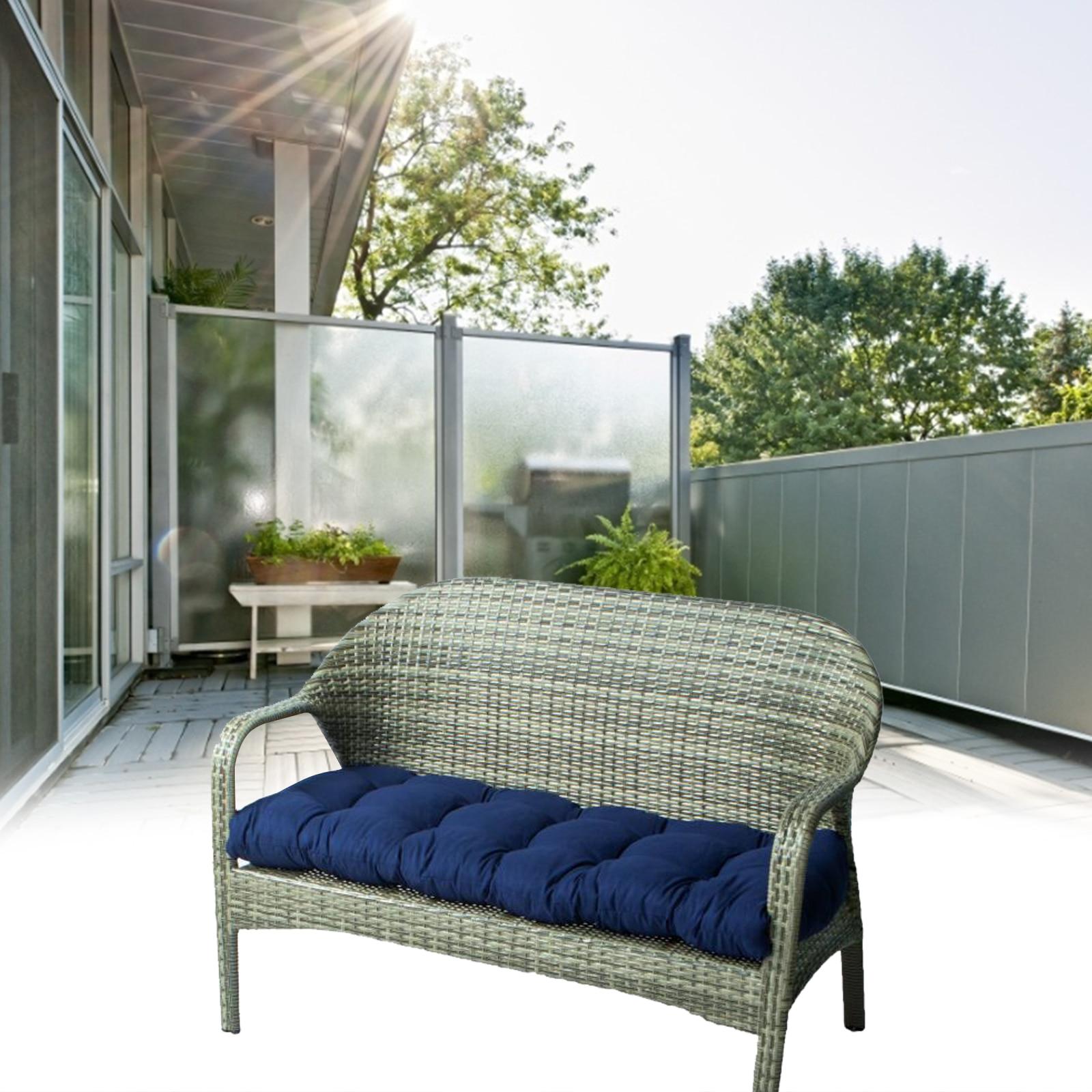Bench Cushion Outdoor Garden Bench Cushions Rectangle Bench Seat Soft Pad Mat Chaise Swing Chair Cushion For Patio 100x50cm
