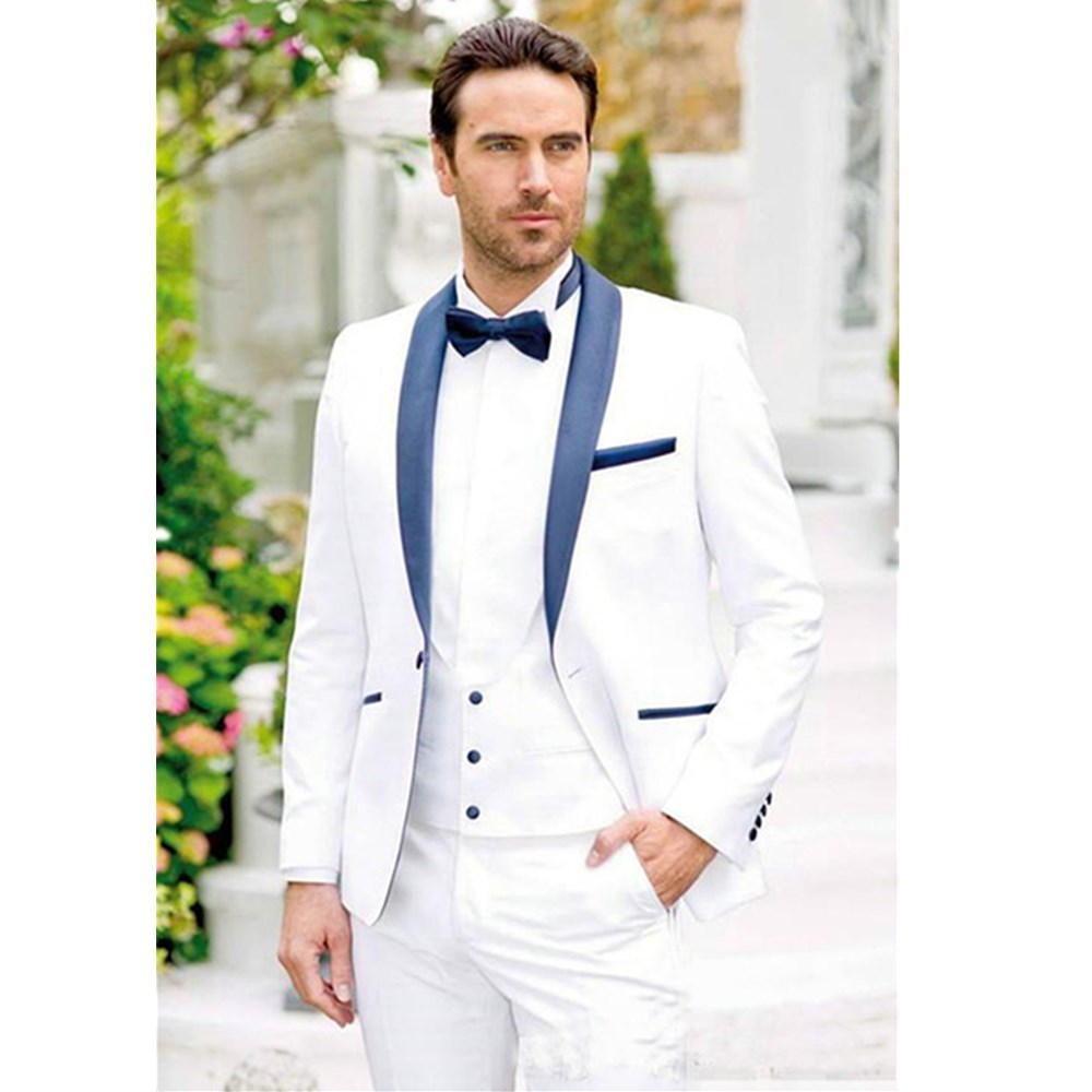 2018 Latest Suit Men Coat Pant Designs White Wedding Tuxedos For Slim Fit Mens Printed Suits Brand Clothing