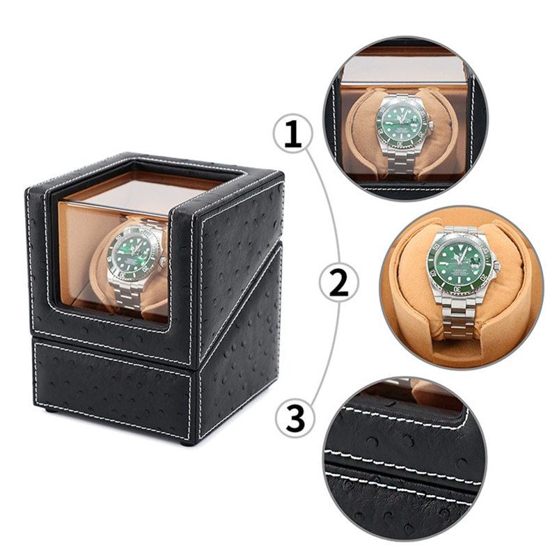 Luxury wooden watch box automatic watch shaker