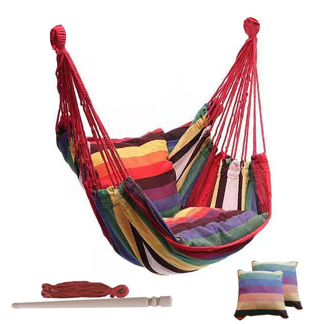 Портативный уличный гамак, качели, утолщенное кресло-качели, подвесное качели, портативное расслабляющее холщовое качели для путешествий, ...
