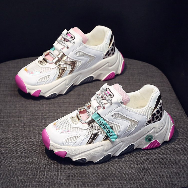 حذاء رياضي نسائي بنعل شبكي يسمح بمرور الهواء ، حذاء كاجوال متناسق مع كل شيء ، صيفي