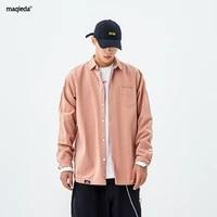 japanese style polo shirts casual loose autumn fashion long sleeve streetwear polo shirts ropa de hombre mens clothing db60sh