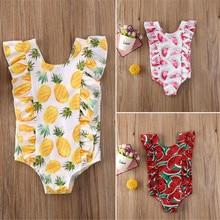 1-5T Summer 1Pc Toddler Kids Baby Girls Swimsuit Swimwear Cute Girls Watermelon Bikini Suit Swimsuit Swimwear Bathing Beachwear