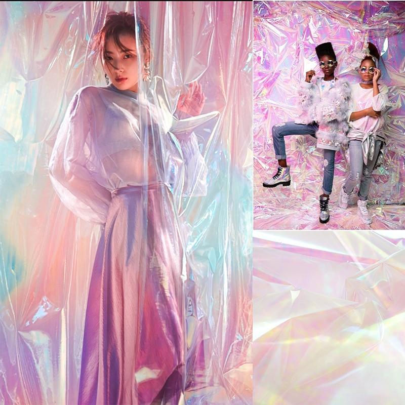New Fashion Fotografia Backdrops Photography studio Transparent Background Instagram Colorful PVC Refraction Accesorios Trend