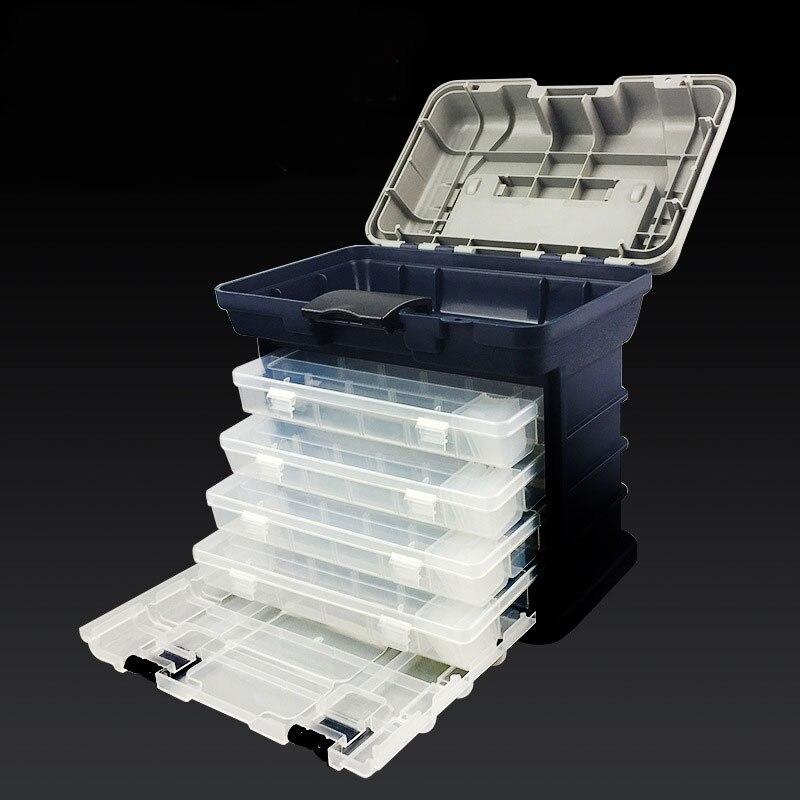 Portable Lure Box Size 27CM X 17CM X 26CM Fishing Tackle Box Detachable Stool Case 3500 enlarge