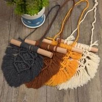 nordic baby room cotton tassels wall hanging handmade macrame home decor retro handcrafted girls room indian decor