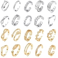 adjustable toe rings for women flower arrow band open tail ring women beach foot jewelry fingers joint tail ring band sandals