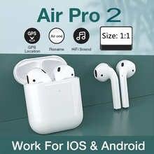 Беспроводные Bluetooth-наушники с сенсорным управлением для airpods 2, спортивные наушники для Huawei, Iphone, Xiaomi, TWS, музыкальная гарнитура
