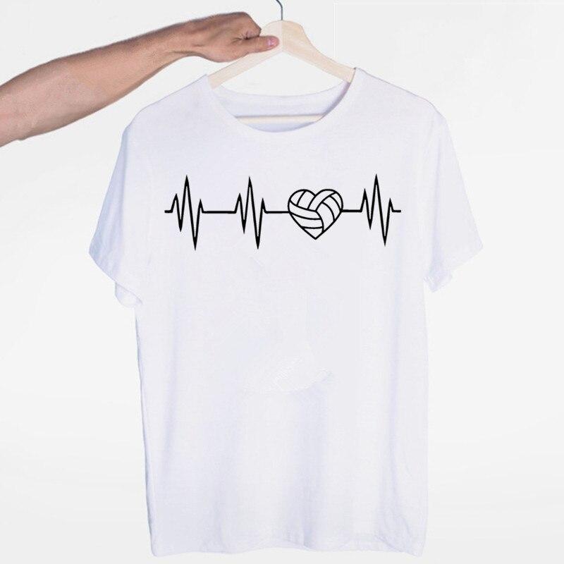 Camiseta masculina de voleiballer com decote em v manga curta verão casual moda unissex