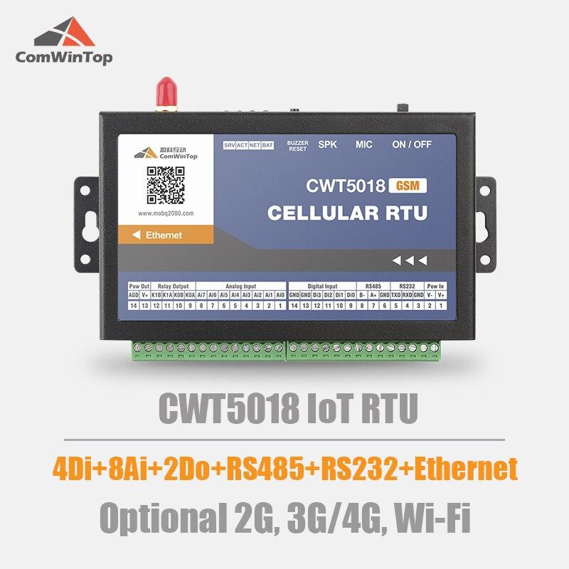 CWT5018 4DI 8AI 2Do Rs485 Gsm Gprs 4g إيثرنت واي فاي Modbus Rtu Tcp Mqtt M2M IoT بوابة