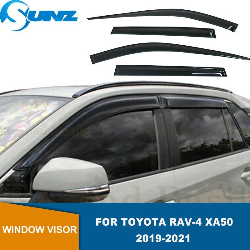 منحرف نافذة جانبية لتويوتا Rav-4 Rav4 XA50 2019 2020 2021 أسود الطقس درع نافذة قناع الشمس المطر الحرس SUNZ