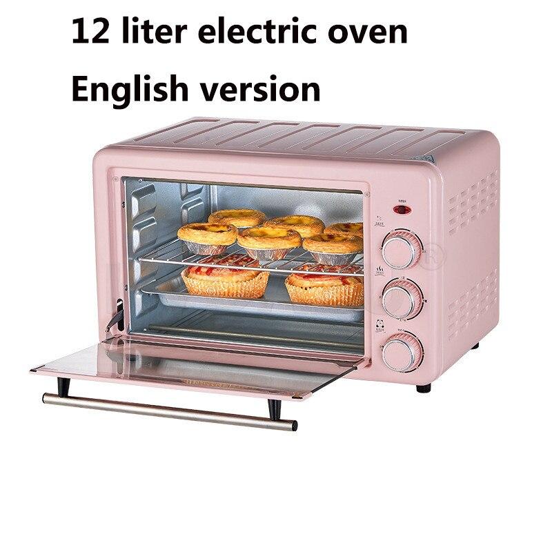 النسخة الإنجليزية 110 فولت فرن كهربائي المنزلية الصغيرة التلقائي متعددة الوظائف 12L سطح المكتب الخبز كعكة الفرن