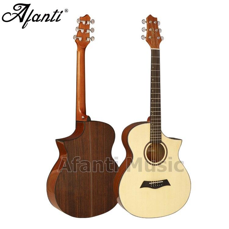 Afanti música 40 pulgadas abeto top/espalda de nogal y lados guitarra acústica (WY-042)