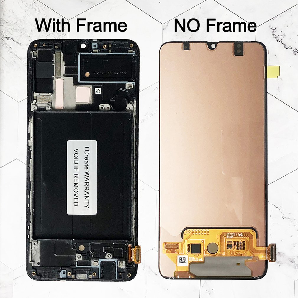 LCD Display Touch Screen For Samsung With Frame Digitizer Mobile Phone Screen Repair Tool Set Suitable For Samsung A70 enlarge