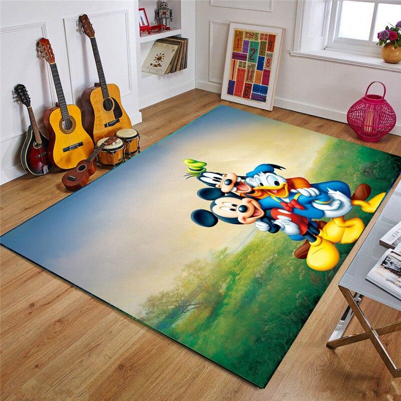 80x160 см детский игровой коврик Disney, коврики Минни Микки, коврик, напольный коврик для спальни, нескользящий коврик, коврики для гостиной для м...