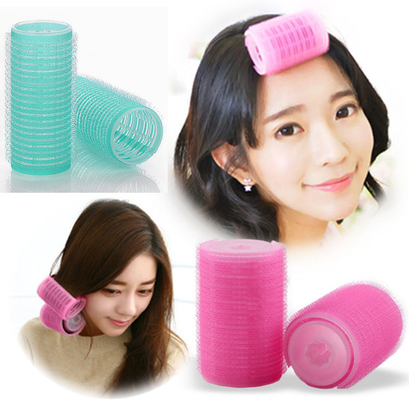 6pcs/pack Hair Rollers Hairdressing Home Use DIY Magic Large Self-Adhesive Hair Rollers Styling Roll