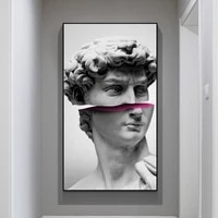funny art of david vaporwave sculpture canvas art posters and prints abstract david canvas paintings on the wall art pictures
