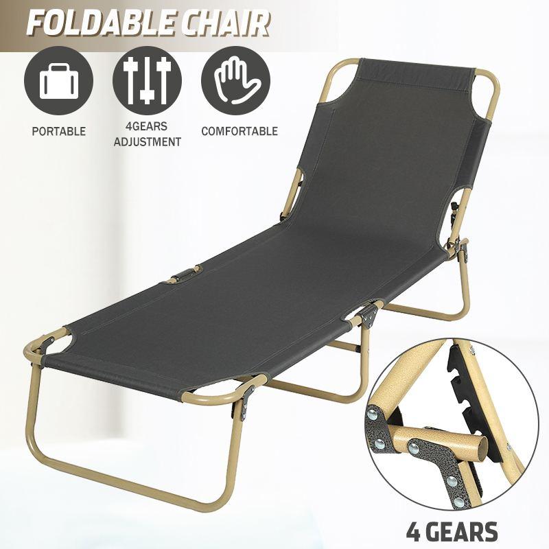 Outdoor Portable Folding Chair Ultralight Fishing Camping Chair Beach Chair Sun Lounger Garden Patio Deck Seat