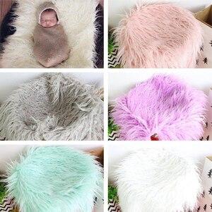 Реквизит для фотосъемки новорожденных Мягкие Детские меховые одеяла из искусственного меха одеяла для заднего фона милые детские полотенц...
