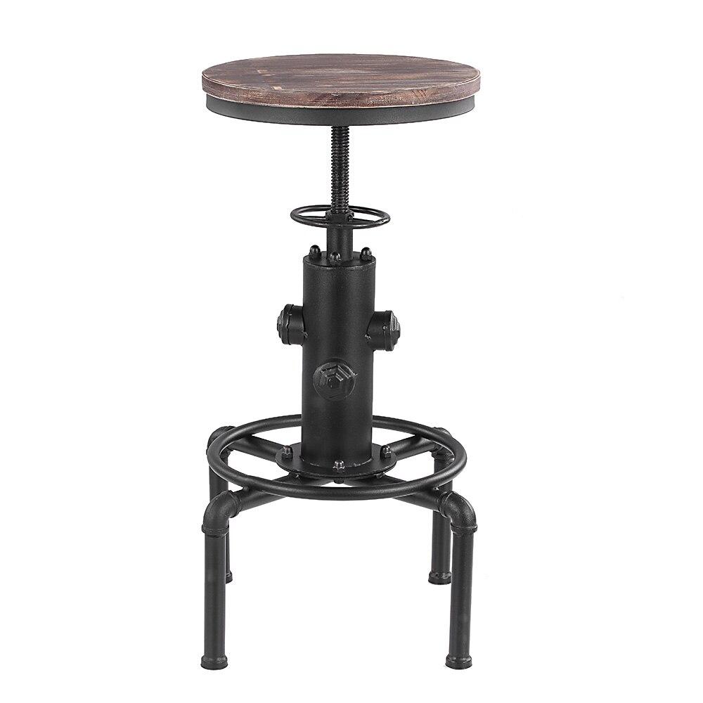 Современный барный стул IKayaa металлический индустриальный Регулируемый