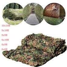 8x8M à 10x10M chasse militaire camouflage net bois militaire camouflage filet camping tente auvent