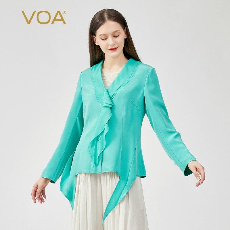 VOA (اليتيم) للبيع 30 متر/شهر الحرير امرأة معطف WY030