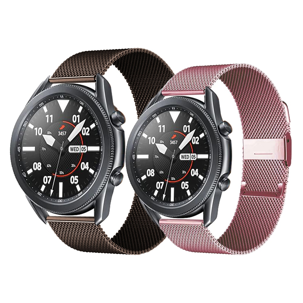 Milanese loop strap For Samsung Galaxy watch 3 45/41mm/Active 2 46mm/42mm Gear S3 Frontier 20/22mm bracelet Huawei GT/2/2e band