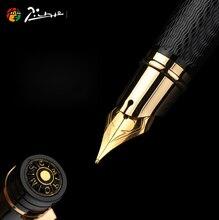 Pimio 피카소 만년필 금속 잉크 펜 골드 실버 클립 비즈니스 로마 스타일 편지지 사무실 학교 supplie 쓰기 선물