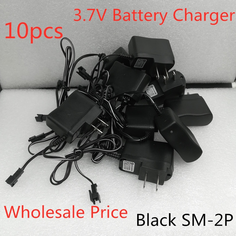 Wholesale 10pcs 3.7V Battery Charger Adapter SM Female Plug Spare Parts For R/C Toys Helicopter Dron