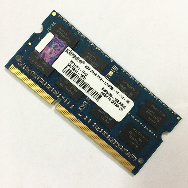 Used Kingston DDR3 4GB 1600MHz RAMS 4GB 2RX8 PC3-12800S-11-11-F3 ddr3 4gb 1600MHz 1.5V Laptop memory good working