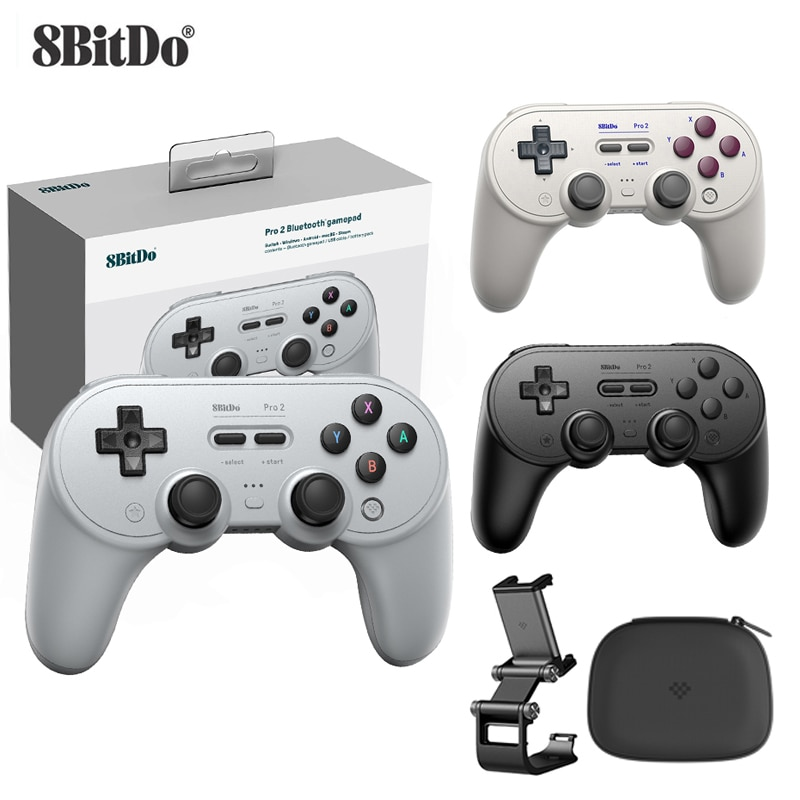 8Bitdo Pro 2 Bluetooth Gamepad Control for Switch PC macOS Android Steam For Raspberry Pi For Nintendo Switch Game Controller