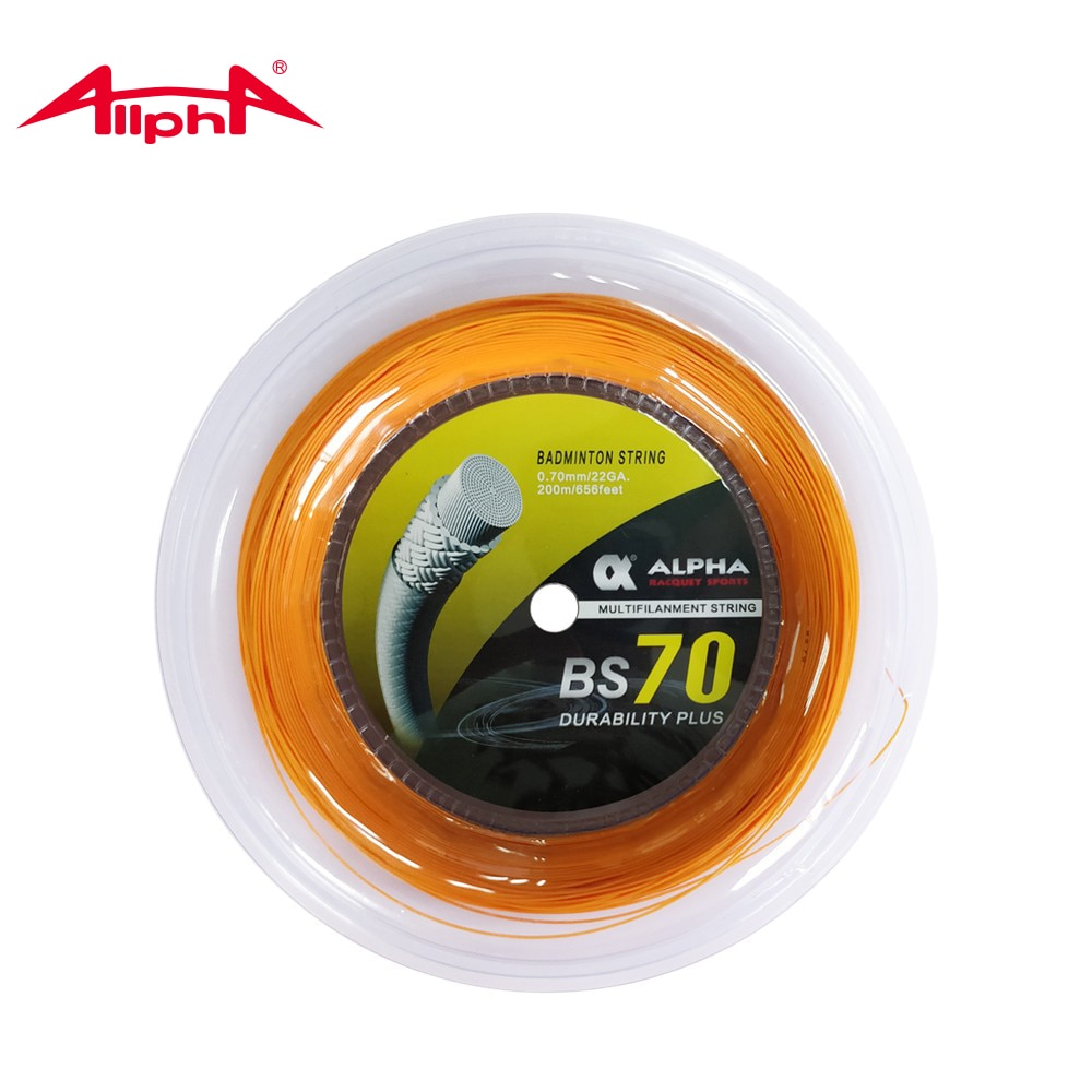 Alpha Badminton String 0.70mm 200m Reel-durability Comprehensive Performance String 22lbs-32lbs Training Net BS70