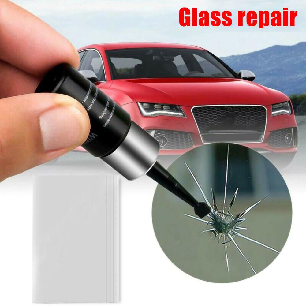 OLOMM Многоцелевой Набор для ремонта автомобильных стекол и треснувшего стекла, инструменты для самостоятельного ремонта ветрового стекла, о...
