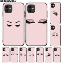 Cils fille rose Dart De Conception Unique de Luxe Couverture de Téléphone Pour iphone 5 5s 5c se 6 6s 7 8 plus x xs xr 11 pro max